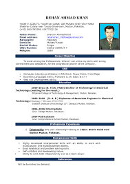Resume Format For Word Cooperative And Microsoft Sample Ms Office Cv