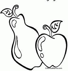 Manzanas Para Colorear Colorear Pera Y Manzana Frutas Dibujo Para Colorear Gratis