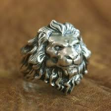 Details About 925 Sterling Silver King Of Lion Ring High Details Mens Biker Punk Ring Ta109a