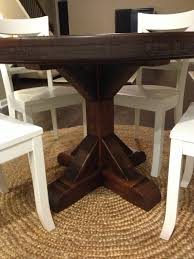 Rustic Round Pedestal Table Custom Farm Table Rustic Trades