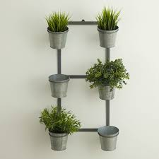 Galvanized wall planter - reminds me of Joanna Gaines' herb rack on HGTV  Fixer Upper