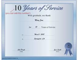 Sample Certificate Of Service Template Enchanting Certificate For Years Of Service Template Goseqhtk