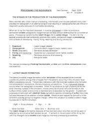 Film Processing Chart Processing Of Radiographic Films Docsity