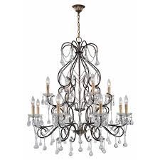 grace collection 12 light antique gold indoor chandelier