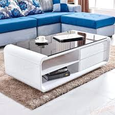 white coffee tables high gloss white coffee table black top tempered glass w 2 drawers living white coffee tables trend high gloss white