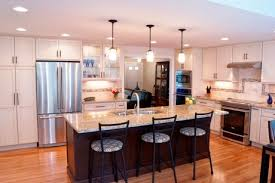 Large Kitchen Remodeling With Island Bar In Cape Cod, MA Photo