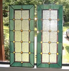stained glass sidelight or transom