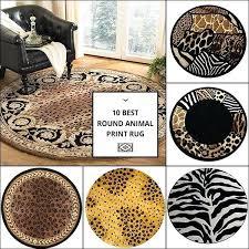 animal print rugs at round rug area