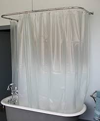 clawfoot tub shower curtain liner. extra wide vinyl shower curtain for a clawfoot tub/opaque with magnets 180\u0026quot; tub liner w