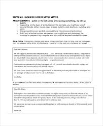 2 Week Notice Letter - 7+ Free Word, Pdf Documents Download | Free ...