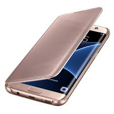 samsung galaxy s7. official samsung galaxy s7 edge clear view cover case - rose gold