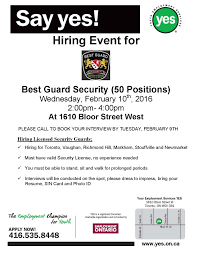 news events youth employment services yes page  yes jobfair 1610 flyer bestguardsecurity