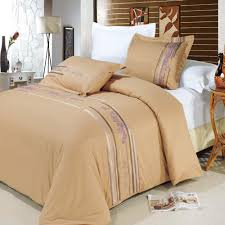 cecilia gold king cal king duvet cover set 100 egyptian cotton 300 thread count embroidered 3pc duvet set