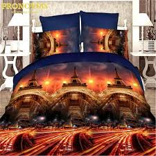 amazing 3d eiffel tower cars football boutique bedding set duvet cover bed sheet pillow cases queen size gift bed linen comforters sets queen affordable
