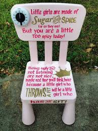 Personalized Time out chair for your little one. Perfect for those toddler  years! Each chair will have this special quote: