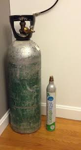 our 20lb co2 tank vs the standard sodastream canister