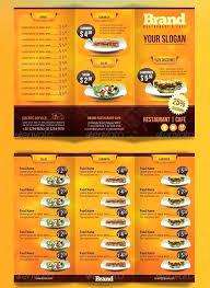 Restaurant Menu Format Free Free Menu Template Example Restaurant Brochure Templates Sample