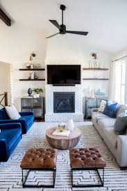 living room looks for less. this contemporary blue living room design by house of jade gets recreated for less copycatchic looks