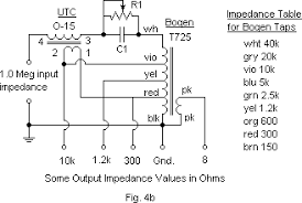 bogen speaker wiring diagram bogen image wiring audio transformer power loss and optimal impedance matching on bogen speaker wiring diagram