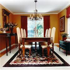 Dining Room:Exotic Victorian Wood Dining Table And Classic White Chairs  With Stunning Rug Classy