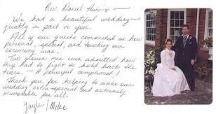 Thank You Notes Comments About Rev Harris Weddings Chicago