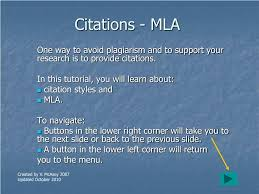 Ppt Citations Mla Powerpoint Presentation Id610165