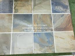 china multicolor slate tiles rust slate pavers split slate patio stones courtyard walkway