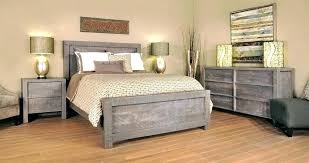 Modern Grey Wood Bedroom Set Distressed Furniture Cool Image Gray ...