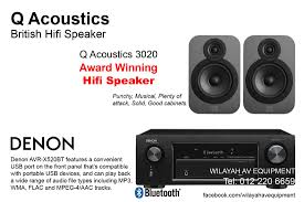 Q Acoustics 3020 and Q Acoustics 3070S subwoofer 2.1 home theater system is  a powerful system for small hall.