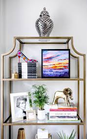 cool home office ideas mixed. Plain Mixed Office CredenzaMy Home Office  Gold Brass Glass Etagere Bookshelves  Mixed And Cool Ideas