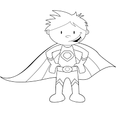 Superhero Coloring Pages Easy