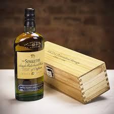 the singleton 12 year old single malt scotch whisky in personalised wood gift box farrar tanner co uk