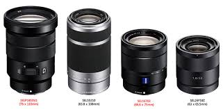 sony 18 105. the korean website dicahub made this lens size comparison based on mount side and filter of new e-mount zooms. original sony leaked file 18 105