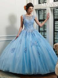 Light Blue Quince Dress Lareina Quinceanera Dresses Style Mq2029 In Baby Blue