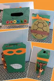 Valentine Shoe Box Decorating Ideas Ninja Turtle Valentine's Day Box For A Boy Made From A Shoebox 17