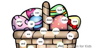 word easter egg easter egg sight word read and cover game simple fun for kids