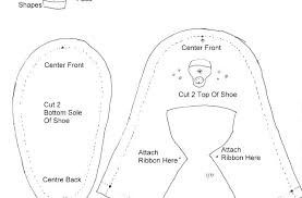 Sneaker Cut Out Template Homemade Baby Sneakers Free Patterns And