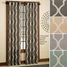 Geometric Patterned Curtains Interior Design Medalia Grommet Curtain Panels With 2 Geometric