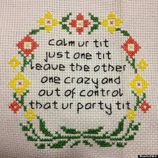 Funny Cross Stitch Patterns Free Interesting 48 Hilariously NSFW Cross Stitches You Won't Find In Grandma's House