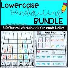 Lower Case Letter Practice Sheet Lowercase Letter Practice Alphabet Handwriting Practice Pages Bundle