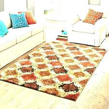 bright colored rugs area colors black and orange rug red brown tan plush