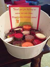 ... Housewarming Party Favors Decorating Ideas Candle Thank You For Warming  Our New Home Now Enjoy Design ...