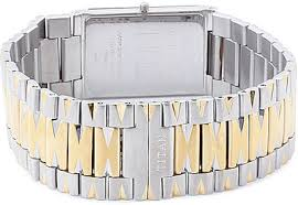 titan edge analog watch for men gold silver description and titan edge analog watch for men gold silver price in