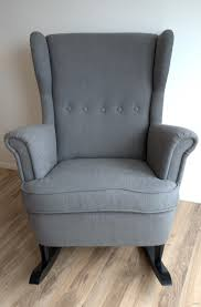 ikea strandmon rocker diy wingback rocking chair