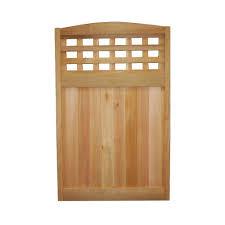 wood fence panels door. Western Red Cedar Checker Lattice Deluxe Arched Fence Panel Wood Panels Door W