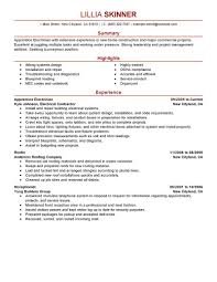 Electrician Skills Resume Experience Resumes