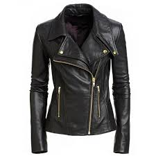 details about uk stock new women s black slim fit biker style moto real leather jacket