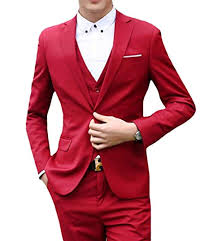 Abetteric Men Plus-Size Button Blazer Jacket Tux Vest Pants <b>3</b> ...