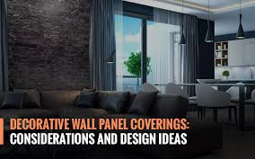 decorative wall panel coverings considerations and design ideas