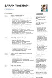 Special Education Teacher Resume Samples VisualCV Resume Samples Enchanting Special Education Teacher Resume